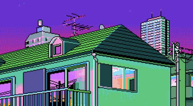 paysage urbain pixel