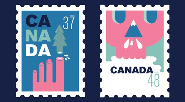 timbres illustrés Canada