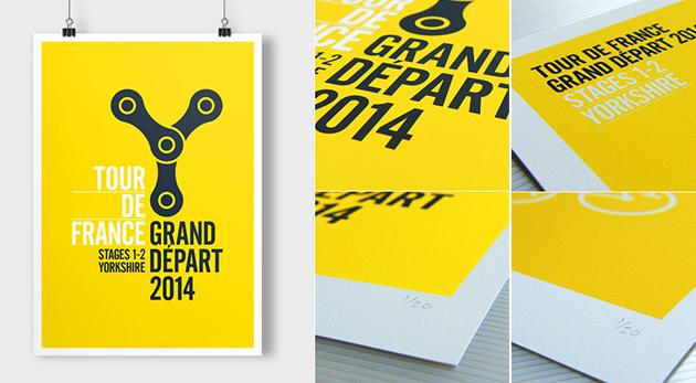 Affiche design Tour de France