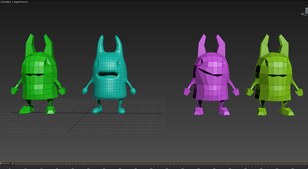 Personnages modélisation 3D