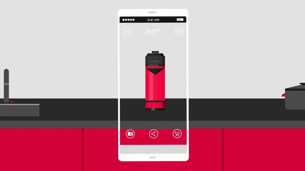 interface Senseo Up app