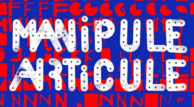 Affiche exposition alphabet typographique