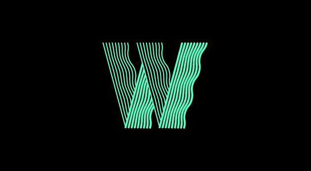 typographie utilisée pour l'identité de l'expo Wave au Parc de la Villette