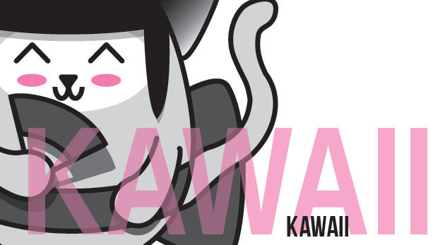 affiche kawaii design graphique