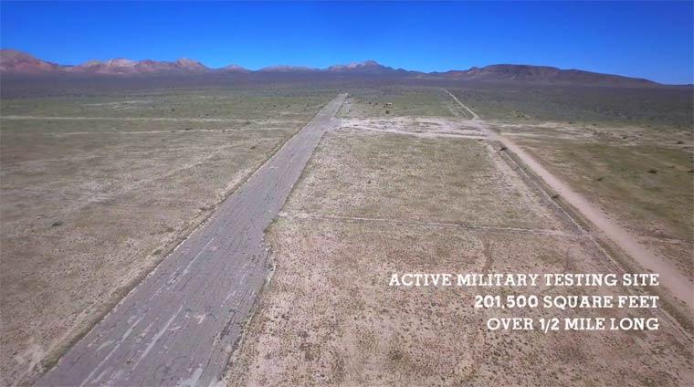 vue aérienne désert