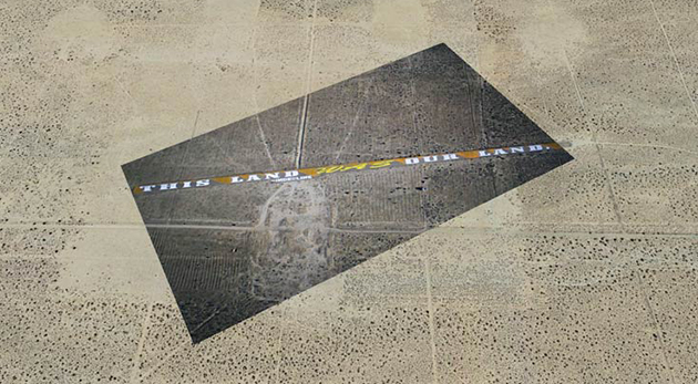 vue aérienne graffiti