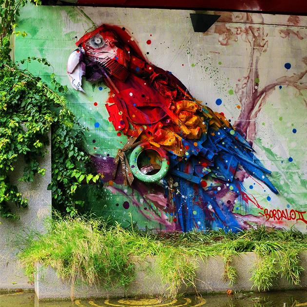 @b0rdalo_ii - Street art et déchets dans les rues de Lisbonne