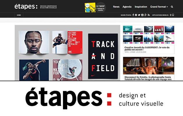 Étapes, c'est LA revue bimestrielle française de design graphique et de culture visuelle.