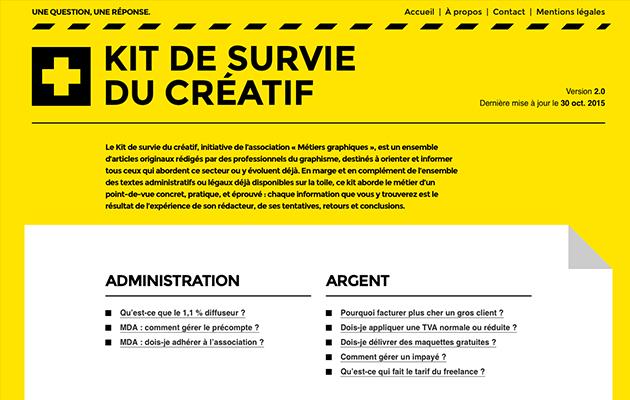 Avec le Kit de survie du créatif, vous êtes paré(e) à vous lancer dans la vie professionnelle ! UN indispensable pour tout graphiste freelance.
