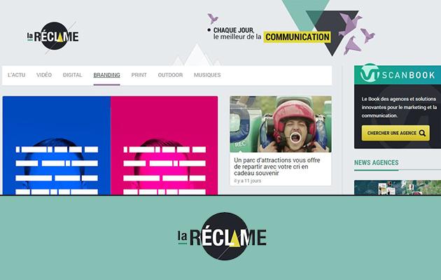 Chaque jour, retrouvez le meilleur de la communication visuelle print et Web avec le site La Réclame.