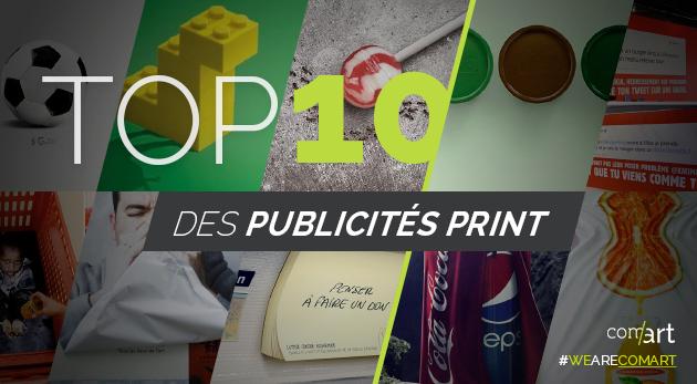 publicités print top 10 - comart-design