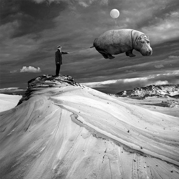 Dariusz Klimczak photographie utilise ses clichés en noir et blanc pour donner une dimension irréelle à ses oeuvres