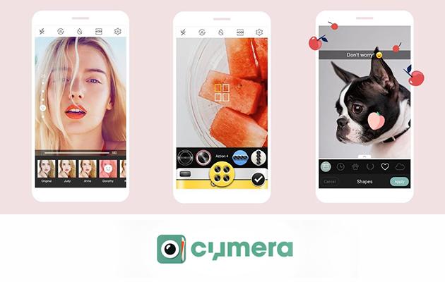 Cymera est l'outil parfait pour ceux qui ne jurent que par les selfies ! Ses options de retouches photos sont surtout centrées sur le portrait !