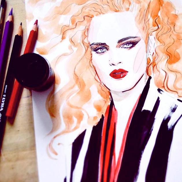 Les dessins de Lena Ker sont sublimes, à voir absolument sur Instagram - Top 10 des illustrateurs à suivre sur Instagram
