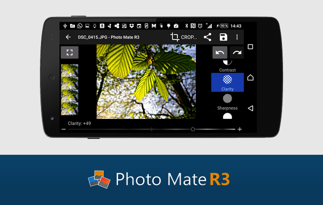 Photo Mate R3 est une application très ergonomique qui vous permet d'effectuer des retouches et ce, même sur vos RAW