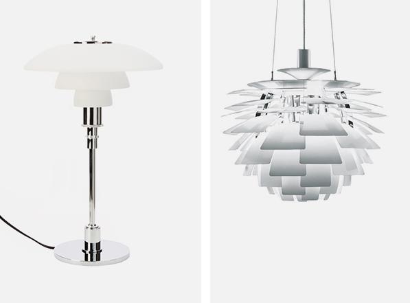 La Lamp PH Artichoke et la lampe de table PH 3/2 sont des créations du designer Poul Henningsen