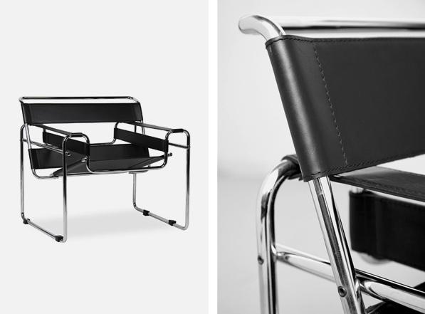 Marcel Breuer est à l'origine de la chaise Wassily