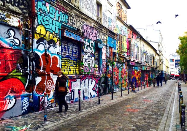 La rue Dénoyez à Belleville regorge d'oeuvre de street art