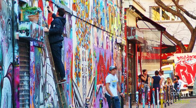 les oeuvres de street art - comart-design
