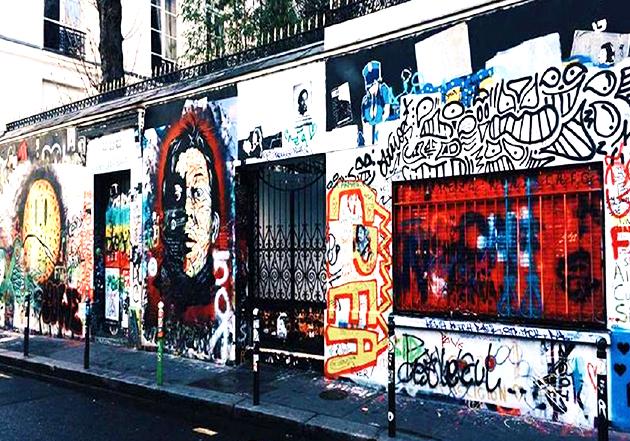 Le 5bis rue de Verneuil regorge d'oeuvres en hommage à Serge Gainsbourg