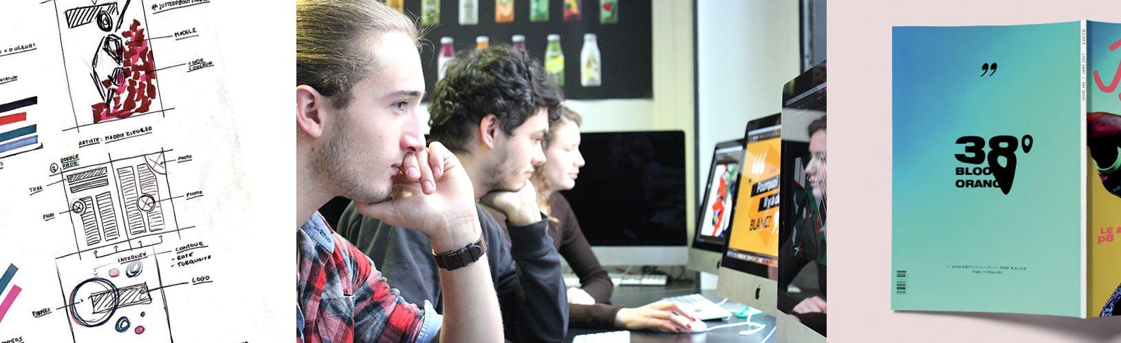 Etude en communication visuelle et directeur artistique - ecole de graphisme et infographie paris Com'Art