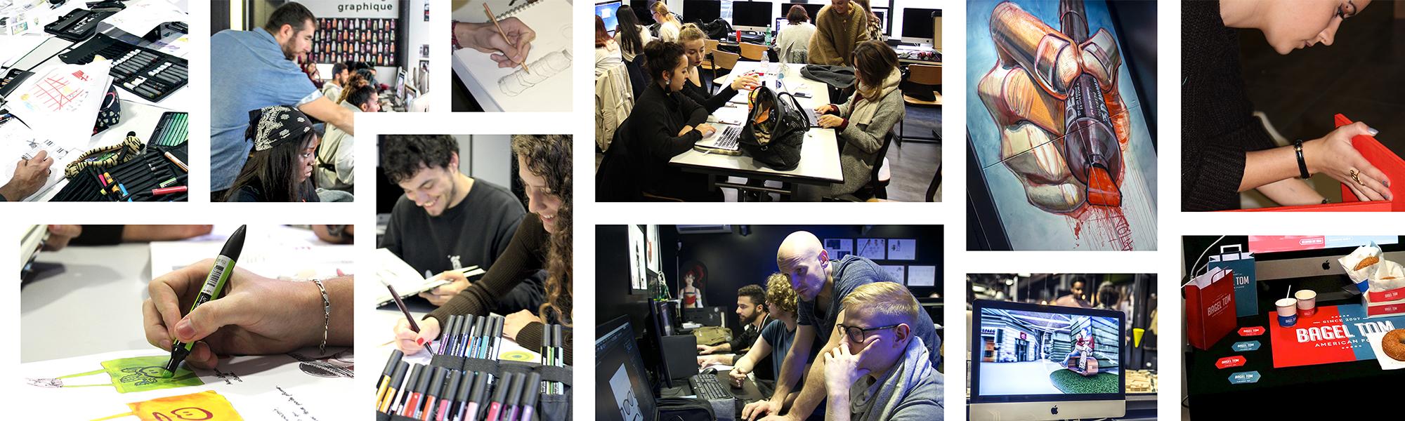 Présentation ecole Com'Art - formation Infograpie et communication visuelle sur Paris