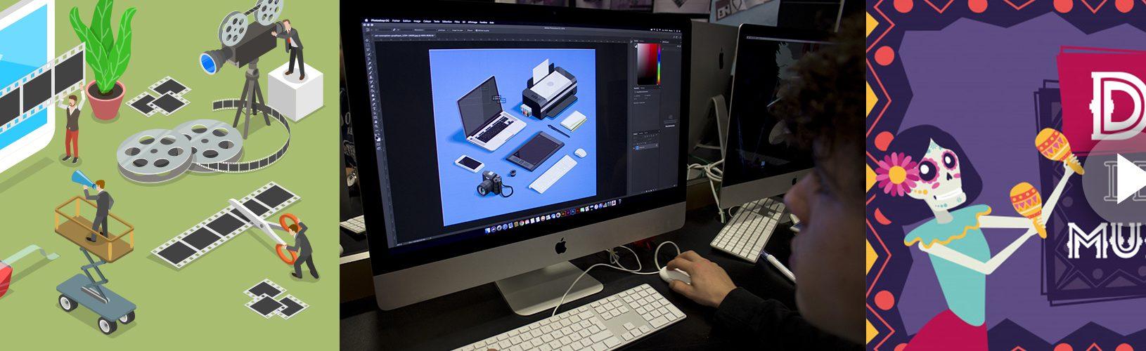 Formation Motion Design Animation création graphique effet speciaux - Ecole com'Art Graphisme