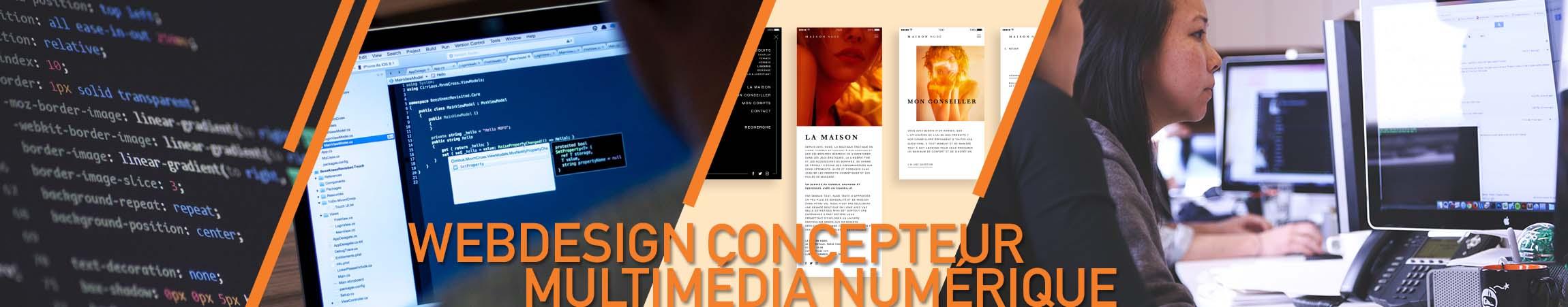 Formation WebDesign, conception Web multimédia - UX UI Design